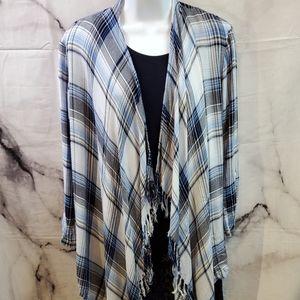 Socialite Cardigan Style Flannel Jacket Size L